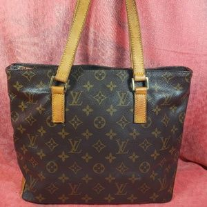 Authentic Louis Vuitton Monogram Cabas Piano Tote
